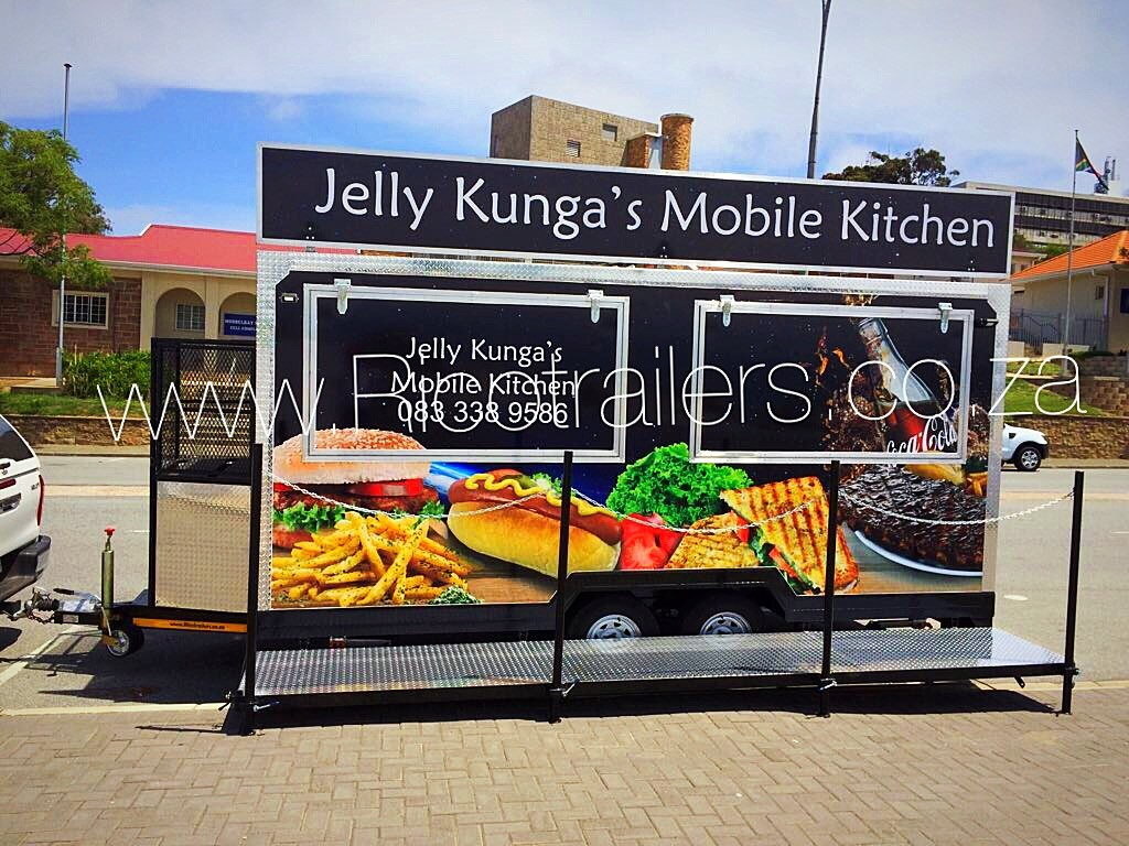 Mobile kitchen trailer - branded - Rico Trailers South Africa