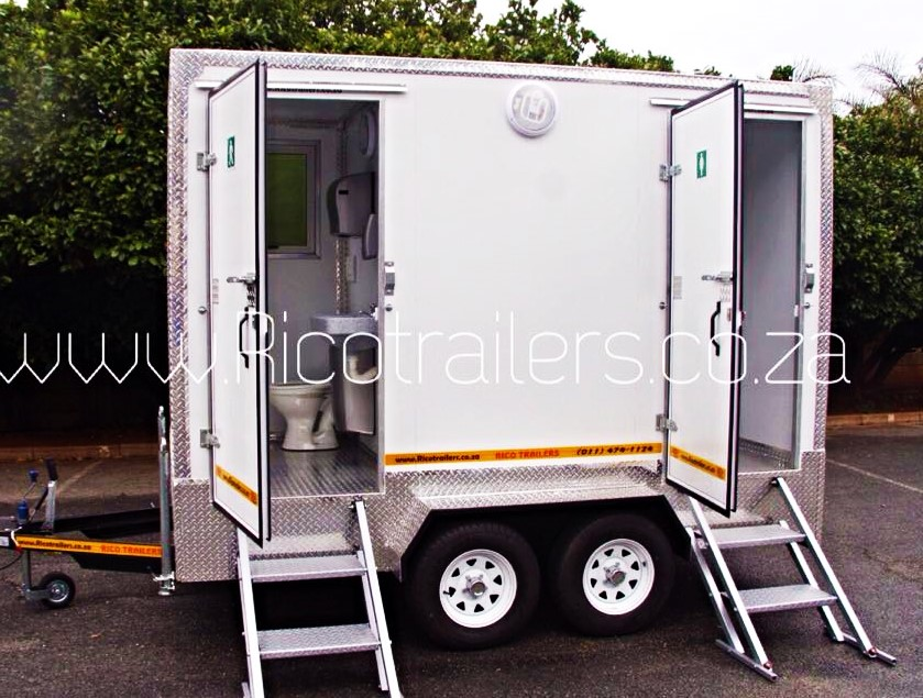 Rico Trailers SA - Mobile Toilet Trailers - PLATINUM MODEL