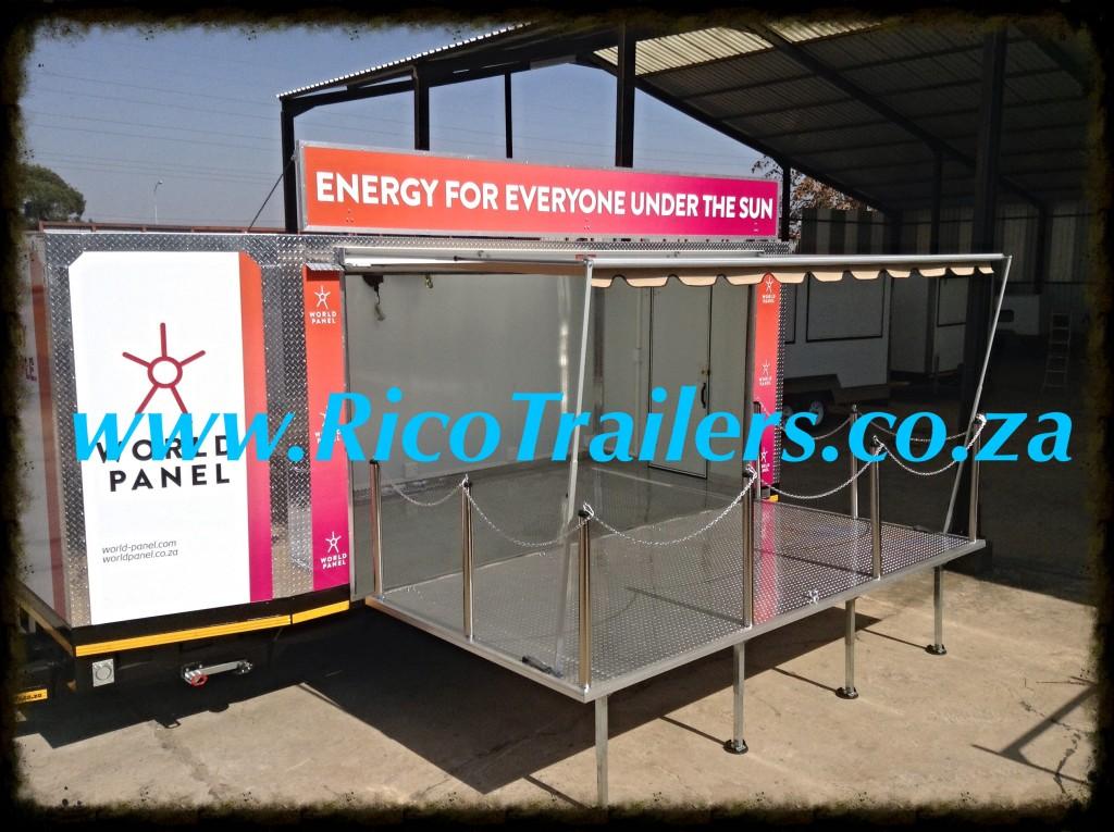 Rico Trailer Manufacturer Mobile Marketing and Events Trailer Rig - World Panel Branding